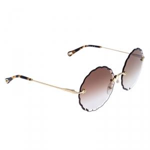 Chloé Gold/ Brown Gradient  Rosie Flower CE142S Round Sunglasses