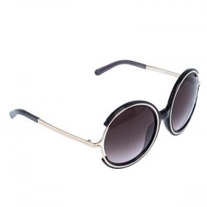 Chloe Silver/Grey Jayme Round Sunglasses