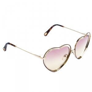 Chloe Gold/Pink Brown Gradient CE131S Heart Shape Sunglasses