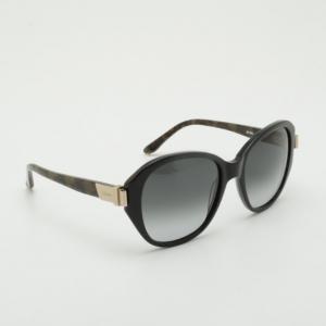 Chloe Black Oval Plastic Sunglasses