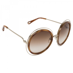 Chloé Blonde Havana/ Brown Gradient CE120SD Carlina Round Sunglasses