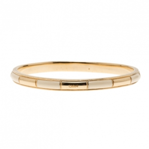 Chloe Logo Embossed White Thin Bangle 21CM