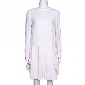 Chloe Pink Mist Crepe Flared Flounce Dress M - used