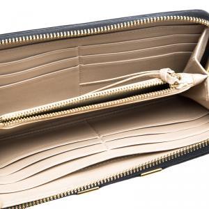 Chloe Black Leather Marcie Zip Around Wallet