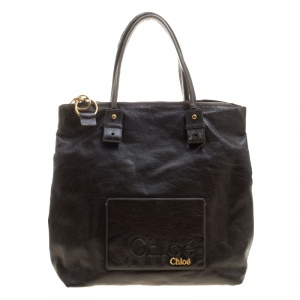 Chloe Brown Faux Leather Tote