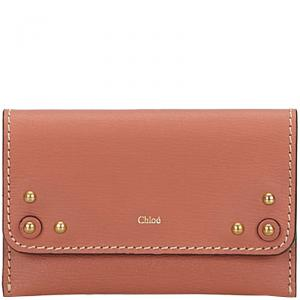 Chloe Pink Leather Card Holder