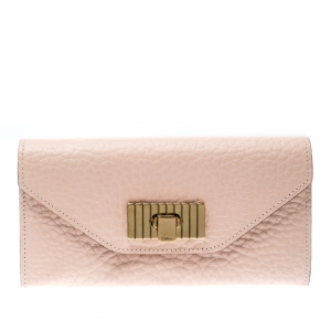 Chloe Blush Pink Leather Sally Wallet