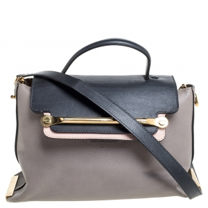 Chloe Tricolor Leather Clare Satchel