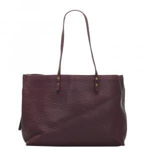 Chloe Burgundy Leather Dilan Bag