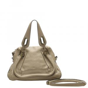Chloe Gray Leather Small Paraty Bag