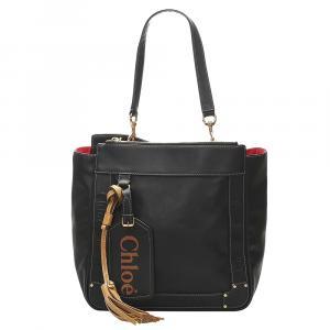 Chloe Black Leather Eden Tote Bag