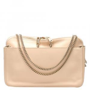 Chloe Beige Leather Lucy Shoulder Bag