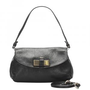 Chloe Black Leather Lily Bag