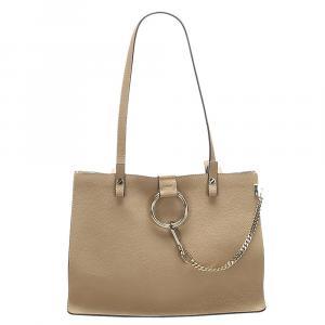 Chloe Beige Leather Faye Tote Bag