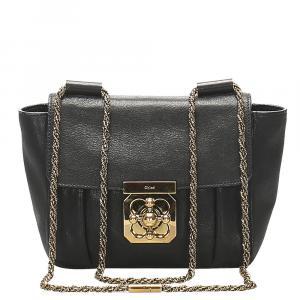 Chloe Black Leather Elsie Crossbody Bag