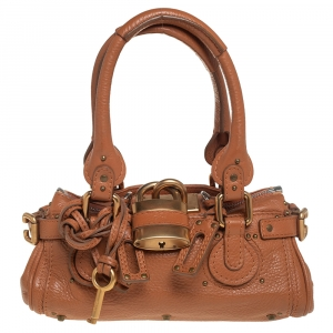 Chloe Tan Leather Mini Paddington Satchel