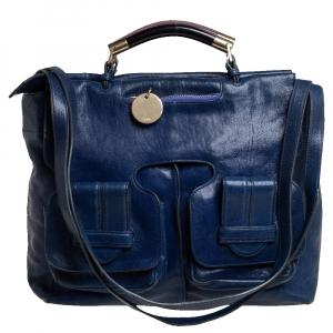 Chloé Blue Leather Saskia Satchel