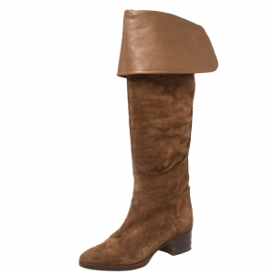 Chloe Brown Suede Over The Knee Boots Size 40 - used