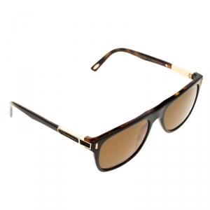 Chopard Tortoise/Brown Polarized SCH219 Rectangle Sunglasses