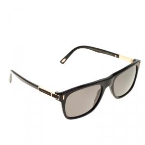 Chopard Black Polarized SCH219 Rectangle Sunglasses