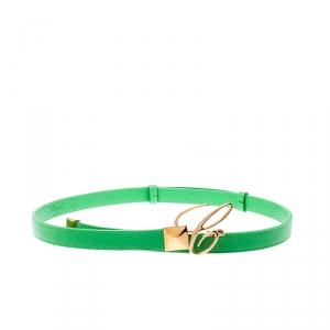 Chopard Green Leather Miss Happy Belt 105CM