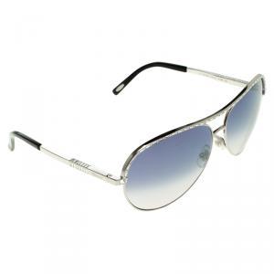 Chopard Black/Silver SCH807S Aviator Sunglasses