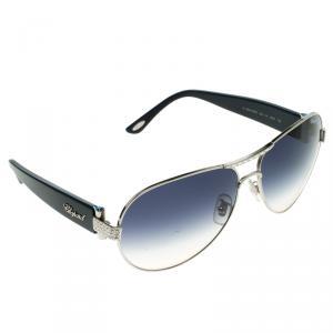 Chopard Blue/Silver SCH866S Embellished Sunglasses