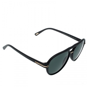 Chopard Black/Polarized SCH193 Aviator Sunglasses