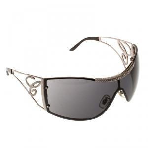 Chopard Black SCH586S Embellished Shield Sunglasses