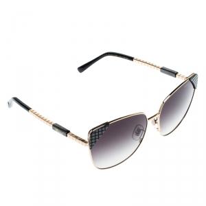 Chopard Gold/Black Gradient Ceramic SCHC41 Cat Eye Sunglasses
