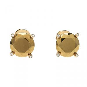 Chopard Golden Diamond Collection 18k Yellow Gold Stud Earrings