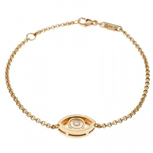 Chopard Good Luck Charm Diamond 18k Rose Gold Bracelet