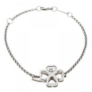 Chopard Happy Diamond Clover 18k White Gold Bracelet