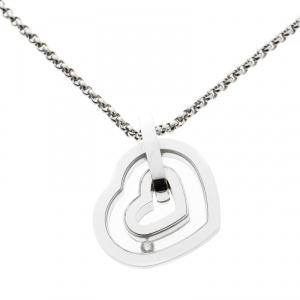 Chopard Happy Diamond Heart 18k White Gold Pendant Necklace