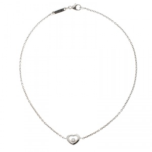 Chopard Happy Diamonds 18K White Gold Ankle Bracelet