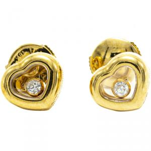 Chopard 18K Yellow Gold Happy Diamonds Icons Earrings