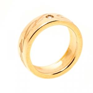 Chopard Chopardissimo Diamond 18k Rose Gold Band Ring Size 50