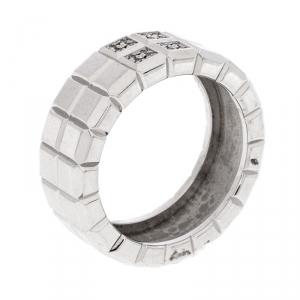 Chopard Diamond 18K White Gold Ice Cube Ring Size 56