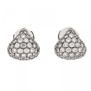 Chopard Diamond 18k White Gold Stud Earrings