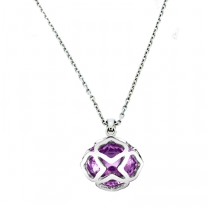 Chopard Imperiale Cocktail Amethyst 18K White Gold Pendant Necklace