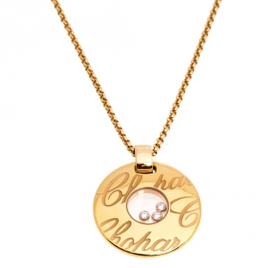 Chopard Chopardissimo Diamond 18K Rose Gold Pendant Necklace