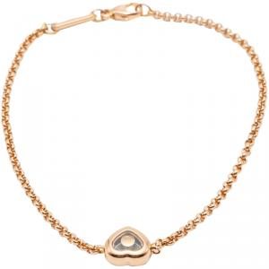 Chopard Happy Diamond Rose Gold Icon Bracelet Size 18