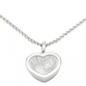 Chopard White Gold Happy Diamond Icon Necklace