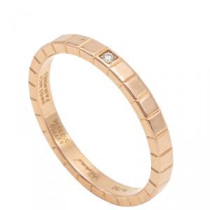 Chopard Rose Gold Ice Cube 1 Diamond Ring Size 56