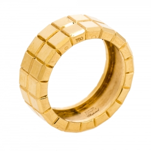 Chopard Ice Cube 18K Yellow Gold Band Ring Size 55