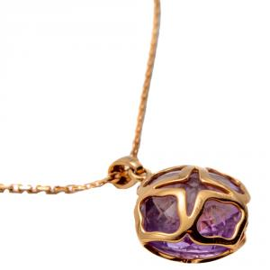 Chopard Imperiale Cocktail Rose Gold Amethyst Necklace