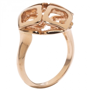 Chopard Imperiale Openwork 18K Rose Gold Cocktail Ring Size 50.5