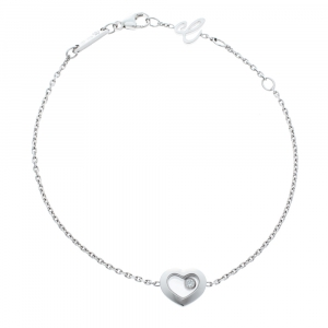 Chopard Happy Diamonds Icon Heart 18K White Gold Bracelet