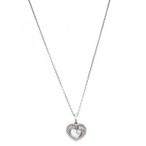 Chopard Very Chopard Diamond 18K White Gold Pendant Necklace
