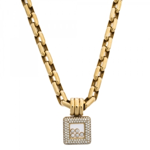 Chopard Happy Diamonds 18K Yellow Gold Pendant Necklace